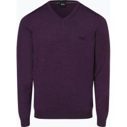 BOSS - Sweter męski – Baram-L, lila. Czarne swetry klasyczne męskie Boss, l, z dzianiny. Za 499,95 zł.