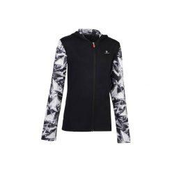 Bluza z kapturem S900. Szare bluzy dziewczęce rozpinane marki DOMYOS, z elastanu, z kapturem. Za 64,99 zł.