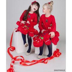 Sukienki dziewczęce wizytowe: Czerwona sukienka świąteczna
