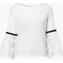 More & More - Damska koszulka z długim rękawem, beżowy. Brązowe t-shirty damskie More & More, w koronkowe wzory, z koronki, z kontrastowym kołnierzykiem. Za 199,95 zł.