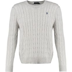 Polo Ralph Lauren CABLE Sweter light grey heather. Szare kardigany męskie marki Polo Ralph Lauren, m, z bawełny, polo. W wyprzedaży za 402,35 zł.