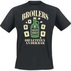 T-shirty męskie: Broilers Die letzten an der Bar T-Shirt czarny