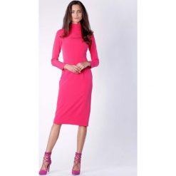 Nowoczesna Różowa Prosta Sukienka Midi z Półgolfem. Brązowe sukienki balowe marki Mohito, l, z kopertowym dekoltem, kopertowe. W wyprzedaży za 148,71 zł.
