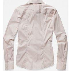 G-Star Raw - Koszula. Szare koszule damskie marki G-Star RAW, l, w paski, z bawełny, casualowe, z klasycznym kołnierzykiem, z długim rękawem. W wyprzedaży za 299,90 zł.