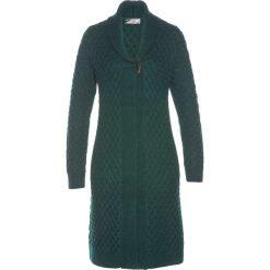 Płaszcze damskie: Płaszcz dzianinowy bonprix głęboki zielony