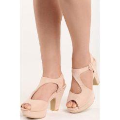 Rzymianki damskie: Beżowe Sandały Lavish