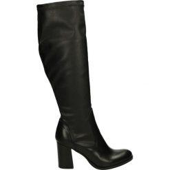 Kozaki - S22 VI-EL NER. Czarne buty zimowe damskie Venezia, ze skóry. Za 299,00 zł.
