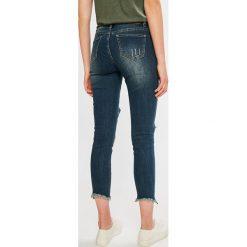 Sublevel - Jeansy. Niebieskie jeansy damskie rurki marki Sublevel, z haftami, z bawełny. W wyprzedaży za 69,90 zł.