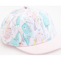 Bawełniana czapka z daszkiem - Biały. Szare czapki damskie marki TXM, z aplikacjami, z bawełny. W wyprzedaży za 19,99 zł.