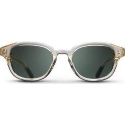 """Okulary przeciwsłoneczne damskie: Okulary przeciwsłoneczne """"Crystal Frank"""" w kolorze szaro-ciemnozielonym"""