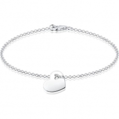 Srebrna bransoletka z zawieszką. Szare bransoletki damskie z cyrkoniami marki Julie & Grace, srebrne. W wyprzedaży za 77,95 zł.