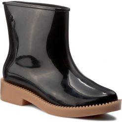 Kalosze MELISSA - Rain Drop Boot Ad 32185 Black/Beige 51496. Czarne buty zimowe damskie Melissa, z materiału. W wyprzedaży za 279,00 zł.