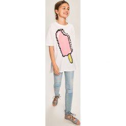 Rurki dziewczęce: Jeansy slim fit z przetarciami - Niebieski