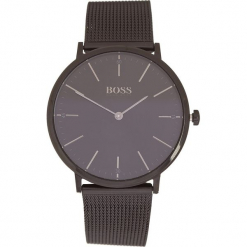Zegarek kwarcowy w kolorze czarnym. Czarne, analogowe zegarki męskie marki HUGO BOSS, ze stali. W wyprzedaży za 695,95 zł.