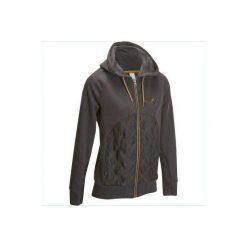 Bluza SW500 szara. Szare bluzy rozpinane damskie FOUGANZA, s, z materiału. Za 99,99 zł.