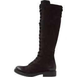 MJUS Kozaki sznurowane nero. Czarne buty zimowe damskie MJUS, z materiału. W wyprzedaży za 587,30 zł.