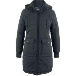 Płaszcz z ciepłym watowaniem bonprix czarny. Czarne płaszcze damskie bonprix. Za 239,99 zł.
