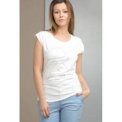 T-shirt z aplikacją z cekinów. Szare t-shirty damskie Monnari, uniwersalny, z aplikacjami. Za 29,97 zł.