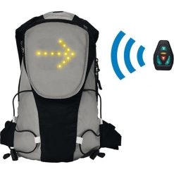 Plecak z podświetleniem LED. Czarne plecaki męskie Clip Sonic, w paski, biznesowe. W wyprzedaży za 229,95 zł.
