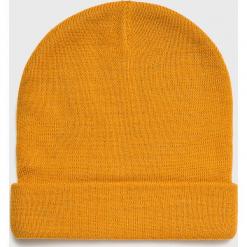 Brave Soul - Czapka. Pomarańczowe czapki zimowe męskie Brave Soul, z dzianiny. W wyprzedaży za 19,90 zł.