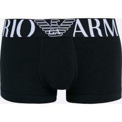 Emporio Armani Underwear - Bokserki. Czarne bokserki męskie Emporio Armani, z bawełny. W wyprzedaży za 89,90 zł.