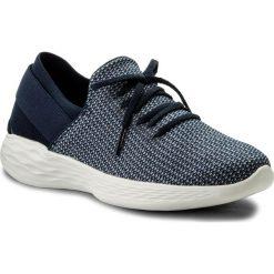 Buty SKECHERS - Upleft 14965/NVW Navy/White. Niebieskie buty do fitnessu damskie Skechers, z materiału. W wyprzedaży za 179,00 zł.