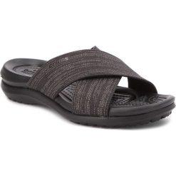 Chodaki damskie: Klapki CROCS - Capri Shimmer Xband 204908 Black/Black