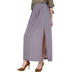 Długie spódnice: Długa spódnica z głębokim rozcięciem  BIALCON