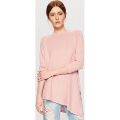 Bluzki, topy, tuniki: Asymetryczna koszulka – Różowy