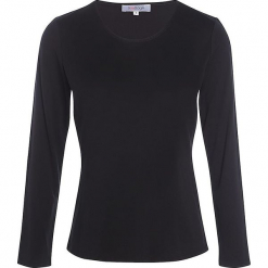 """Koszulka """"Soie"""" w kolorze czarnym. Czarne bluzki z odkrytymi ramionami Scottage, klasyczne, z okrągłym kołnierzem, z długim rękawem. W wyprzedaży za 68,95 zł."""