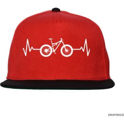 Czapka FullCap EKG FULL black/red. Czarne czapki z daszkiem damskie Pakamera, z nadrukiem. Za 69,00 zł.