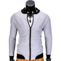 Bluzy męskie: BLUZA MĘSKA ROZPINANA BEZ KAPTURA B673 - SZARA