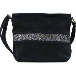 """Torebki klasyczne damskie: Skórzana torebka """"Nicole"""" w kolorze czarnym – 30 x 23 x 1 cm"""