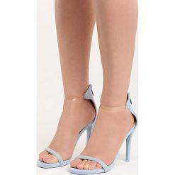Niebieskie Sandały Private Emotion. Niebieskie sandały damskie marki Born2be, w paski, na wysokim obcasie. Za 69,99 zł.