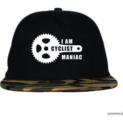 Czapka FullCap Maniac. Czarne czapki z daszkiem damskie marki Pakamera, z nadrukiem. Za 69,00 zł.