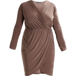 Sukienki hiszpanki: Missguided Plus Sukienka etui mocha