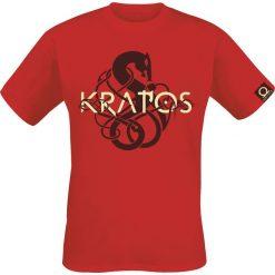 T-shirty męskie z nadrukiem: God Of War Kratos – Symbol T-Shirt czerwony