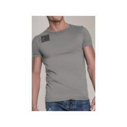 T-SHIRT ARMY 3. Niebieskie t-shirty męskie marki bonprix, m, z nadrukiem, z klasycznym kołnierzykiem, z długim rękawem. Za 219,00 zł.