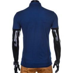 KOSZULKA MĘSKA POLO BEZ NADRUKU S912 - NIEBIESKI. Niebieskie koszulki polo Ombre Clothing, m, z nadrukiem. Za 39,00 zł.