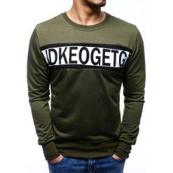 Bluzy męskie: Bluza męska z nadrukiem zielona (bx3504)
