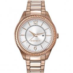 Zegarek kwarcowy w kolorze srebrno-różowozłotym. Żółte, analogowe zegarki damskie Esprit Watches, ze stali. W wyprzedaży za 318,95 zł.