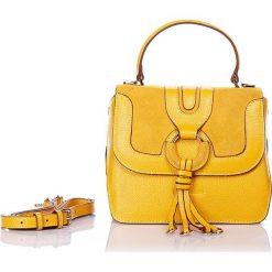"""Torebki klasyczne damskie: Skórzana torebka """"Janet"""" w kolorze żółtym – 18 x 23 x 11 cm"""