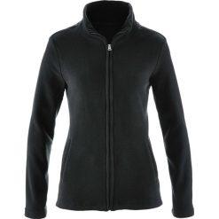 Bluza rozpinana z polaru z wpuszczanymi kieszeniami bonprix czarny. Czarne bluzy polarowe marki DOMYOS. Za 37,99 zł.