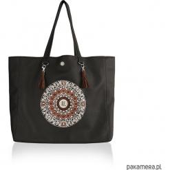 Torba OCEAN MANDALA CHOCO XL - shopper etno. Czarne shopper bag damskie Pakamera, z haftami, duże, z haftem. Za 229,00 zł.