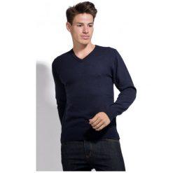 William De Faye Sweter Męski Xxl Ciemnoniebieski. Niebieskie swetry klasyczne męskie marki Oakley, na lato, z bawełny, eleganckie. Za 259,00 zł.