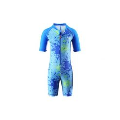 Kombinezony niemowlęce: REIMA Boys Kombinezon kąpielowy GALAPAGOS mid blue