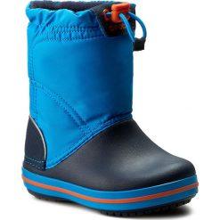 Buty zimowe chłopięce: Śniegowce CROCS – Crocband Lodgepoint Boot K 203509 Ocean/Navy