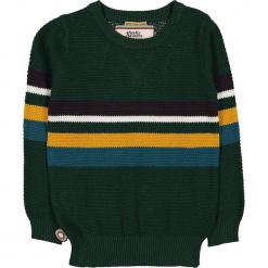 """Sweter """"My Heroics"""" w kolorze ciemnozielonym. Zielone swetry chłopięce marki 4FunkyFlavours Kids, w paski, z bawełny, z okrągłym kołnierzem. W wyprzedaży za 122,95 zł."""