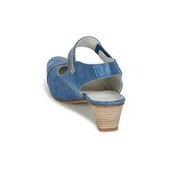 Sandały Dorking  CONCHA. Niebieskie rzymianki damskie Dorking. Za 272,30 zł.