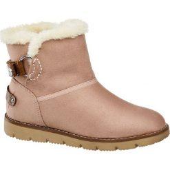 Buty: botki damskie Tom Tailor różowe